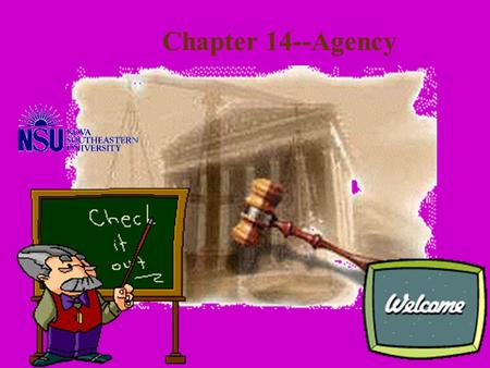 Chapter 14--Agency Actual v. Apparent Actual v. Apparent Express v. Implied Express v. Implied Employees/Independent Contractors Agent's Authority.