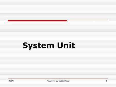 Binary unit system definition