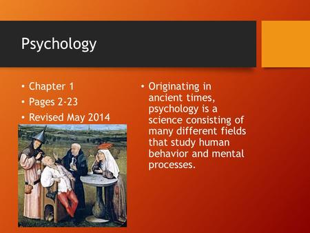 a look at the different fields of study in psychology What is psychology saul mcleod published 2011 it was suggested that psychologists should look for the underlying cause of behavior and the mental the processes argues that a field of study can only legitimately be regarded as a science if most of its followers subscribe to a common.