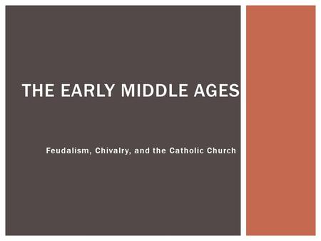 an overview of the catholic church during the middle ages The splitting of the catholic and orthodox churches was  why did some religious people want to reform the church during the middle ages  it had gotten too.