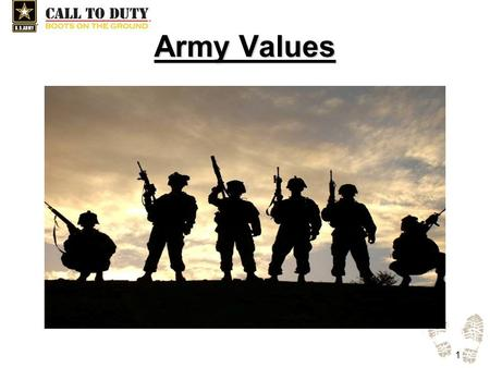 Army Values.