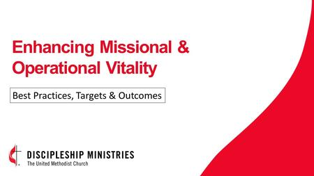 Enhancing Missional & Operational Vitality Best Practices, Targets & Outcomes.