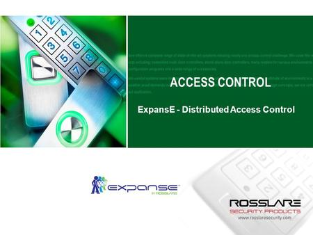 ACCESS CONTROL ExpansE - Distributed Access Control.