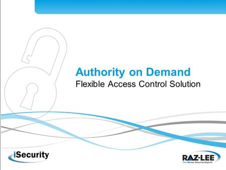 1 Authority on Demand Flexible Access Control Solution.