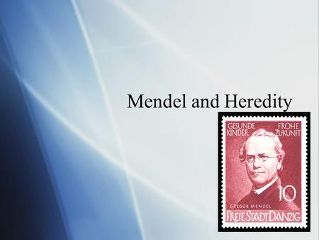 Mendel and Heredity Chapter 8. Mendel  Heredity- the passing of traits from parents to offspring  Gregor Mendel- Austrian monk who worked with peas.
