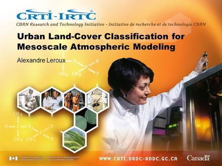 Urban Land-Cover Classification for Mesoscale Atmospheric Modeling Alexandre Leroux.