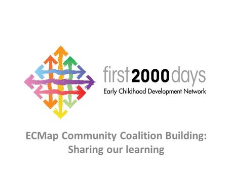 ECMap Community Coalition Building: Sharing our learning.