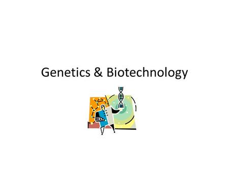 Genetics & Biotechnology. Selective Breeding Selective breeding – humans pick desired traits to go on to offspring Hybridization – using organisms with.