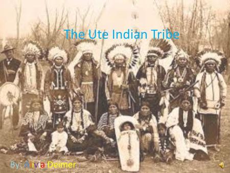 The Ute Indian Tribe By: Alivia Deimer Table of contents  Tribe traditions  What did they eat?  Where did they live?  How did they dress?  Famous.