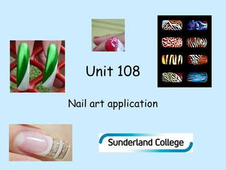 Unit 108 Nail art application. Connect Activity 1.The salon should be well ventilated. True or false? 2.Nail art is only applied to artificial nails.