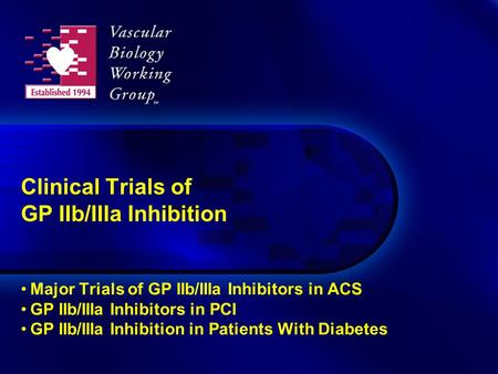 Clinical Trials of GP IIb/IIIa Inhibition Major Trials of GP IIb/IIIa Inhibitors in ACS GP IIb/IIIa Inhibitors in PCI GP IIb/IIIa Inhibition in Patients.