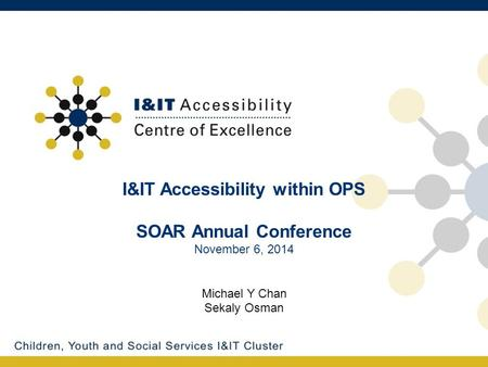 I&IT Accessibility within OPS SOAR Annual Conference