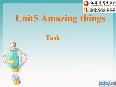 Unit5 Amazing things Task. What is the monkey doing? Isn't that interesting?