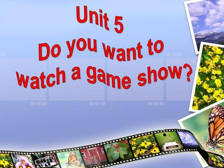 Lead in: Survey: Do you like watching TV? Do you want to watch a game show?