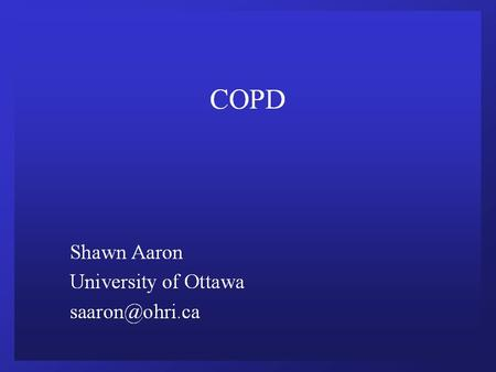 "2008 Canadian COPD Guidelines Definition of COPD: ""Chronic obstructive pulmonary disease (COPD) is a respiratory disorder largely caused by smoking which."