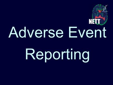 Adverse Event Reporting.