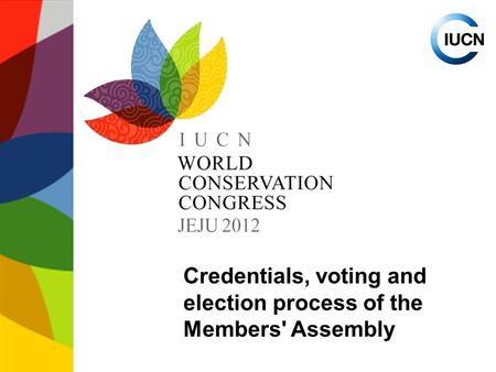 Credentials, voting and election process of the Members' Assembly.