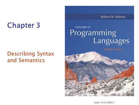 Syntax, Semantics, Pragmatics