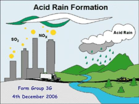 Form Group 3G 4th December 2006. What do you know about acid rain?