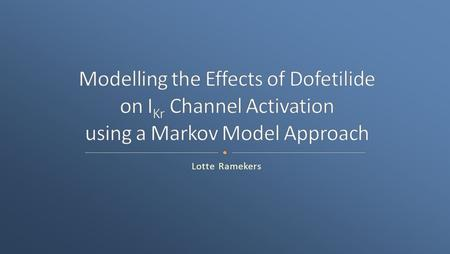 Lotte Ramekers. Research questions Introduction Models Methods Experiments and results Conclusions Questions.