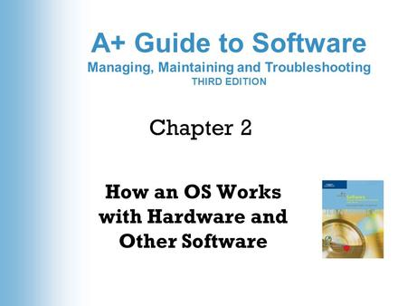 A+ Guide to Software Managing, Maintaining and Troubleshooting THIRD EDITION Chapter 2 How an OS Works with Hardware and Other Software.