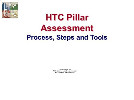 HTC Pillar Assessment Process, Steps and Tools. Entrepreneurship.