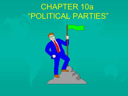 "CHAPTER 10a ""POLITICAL PARTIES"". HOW ARE CITIZENS INVOLVED IN ELECTIONS A. Listening to the Candidates 1. Purpose of a campaign is to bring the 1. Purpose."