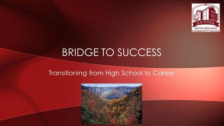 Transitioning from High School to Career BRIDGE TO SUCCESS.