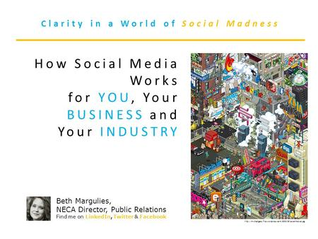 Clarity in a World of Social Madness How Social Media Works for YOU, Your BUSINESS and.