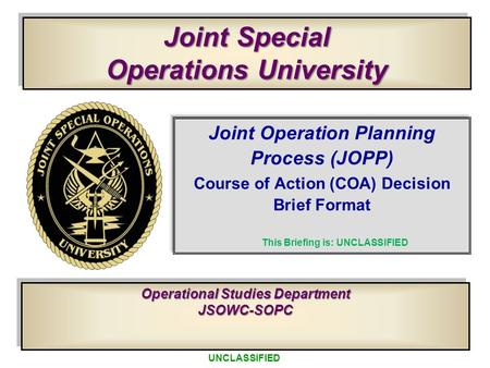 Joint Special Operations University
