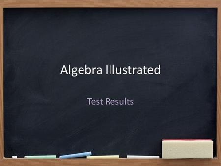 Algebra Illustrated Test Results. About the Module.