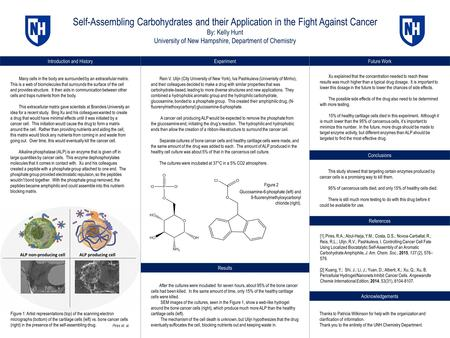 Introduction and History Self-Assembling Carbohydrates and their Application in the Fight Against Cancer By: Kelly Hunt University of New Hampshire, Department.