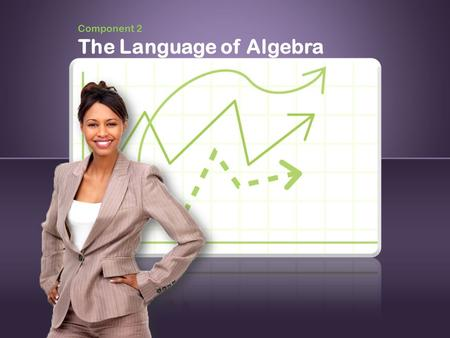 "Component 2 The Language of Algebra. 2 Language of Algebra ""Rules of Algebra"" Stage 1 Stage 2 Stage 3."