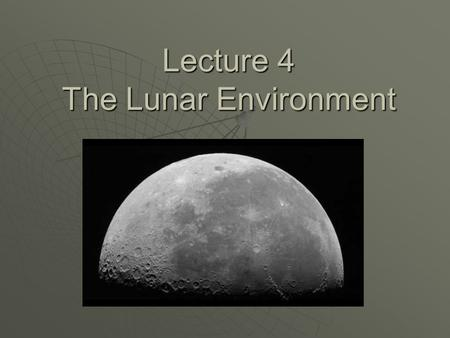 an overview of lunar tides Explore provides hands-on space science activities and supporting resources for out overview in part a, children and the moon and tides in a place where the.