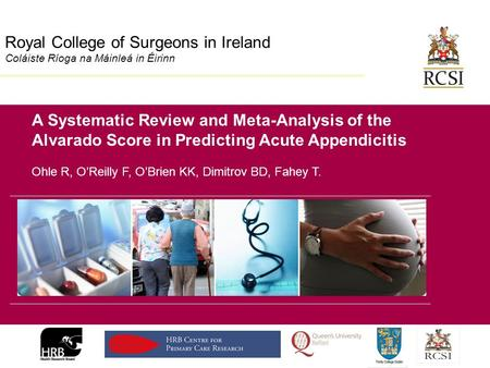 Division of Population Health Sciences Royal College of Surgeons in Ireland Coláiste Ríoga na Máinleá in Éirinn A Systematic Review and Meta-Analysis of.