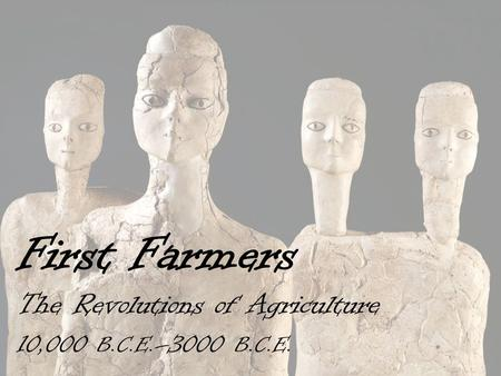 First Farmers The Revolutions of Agriculture 10,000 B.C.E. –3000 B.C.E.