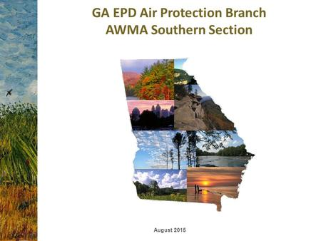 GA EPD Air Protection Branch AWMA Southern Section August 2015.