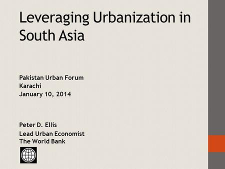 Leveraging Urbanization in South Asia