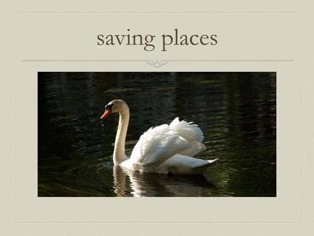 Saving places. WHY A CHAPTER ON HISTORICAL RESOURCES in the MASTER PLAN ?  A Master Plan is required by Zoning  A Historic Resources Chapter is to aid.