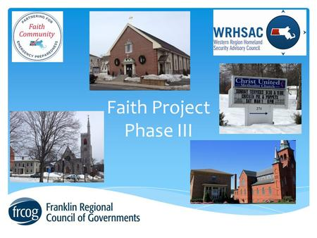 Faith Project Phase III. Emergency Rest Center Guide  Template  Standard operating guidelines  Mutual aid agreement.
