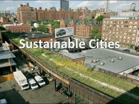 Sustainable Cities Chapter 22. URBANIZATION Basics Urbanization: shift from rural to urban living Agriculture gave rise to sedentary societies Industrialization.