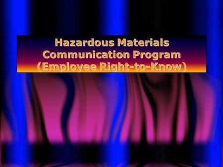 California Hazardous Materials Business Plan