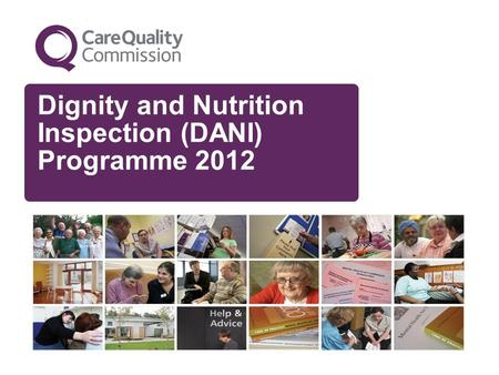 Dignity and Nutrition Inspection (DANI) Programme 2012.
