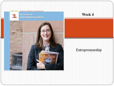 Week 4 Entrepreneurship.