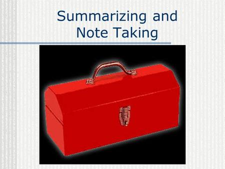Summarizing and Note Taking. These are 2 of the most powerful skills our students can cultivate.