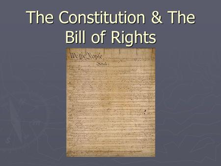 The Constitution & The Bill of Rights. Victory! = Independence Achieved.