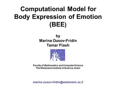 Body Expression of Emotion (BEE)