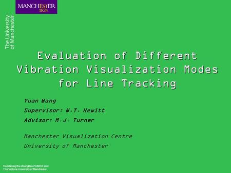Combining the strengths of UMIST and The Victoria University of Manchester Evaluation of Different Vibration Visualization Modes for Line Tracking Yuan.