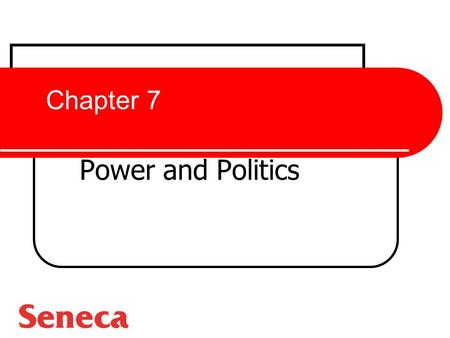 Chapter 7 Power and Politics. Power A capacity that A has to influence the behaviour of B so that B acts in accordance with A's wishes Dependency: B's.
