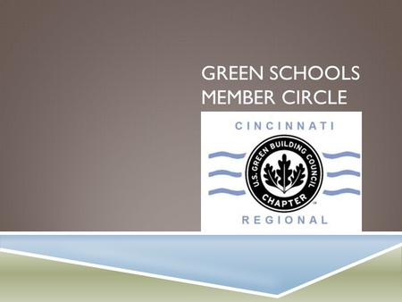 GREEN SCHOOLS MEMBER CIRCLE. VISION STATEMENT  Vision: To educate our community as well as our state and local government on sustainability as it relates.